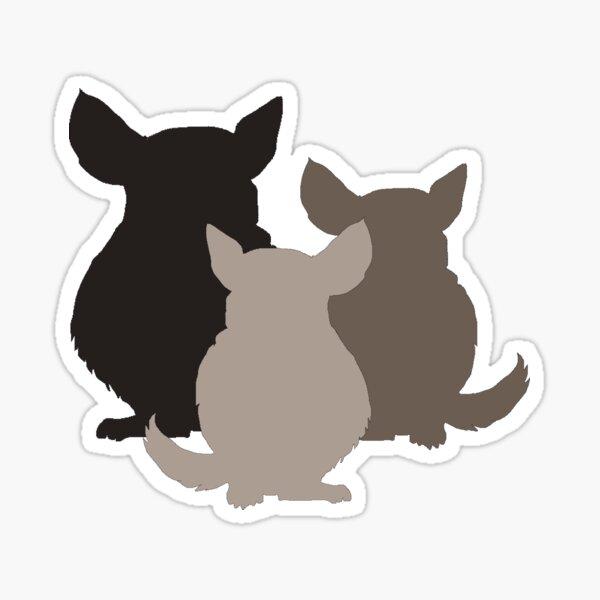 Chinchilla mania Sticker
