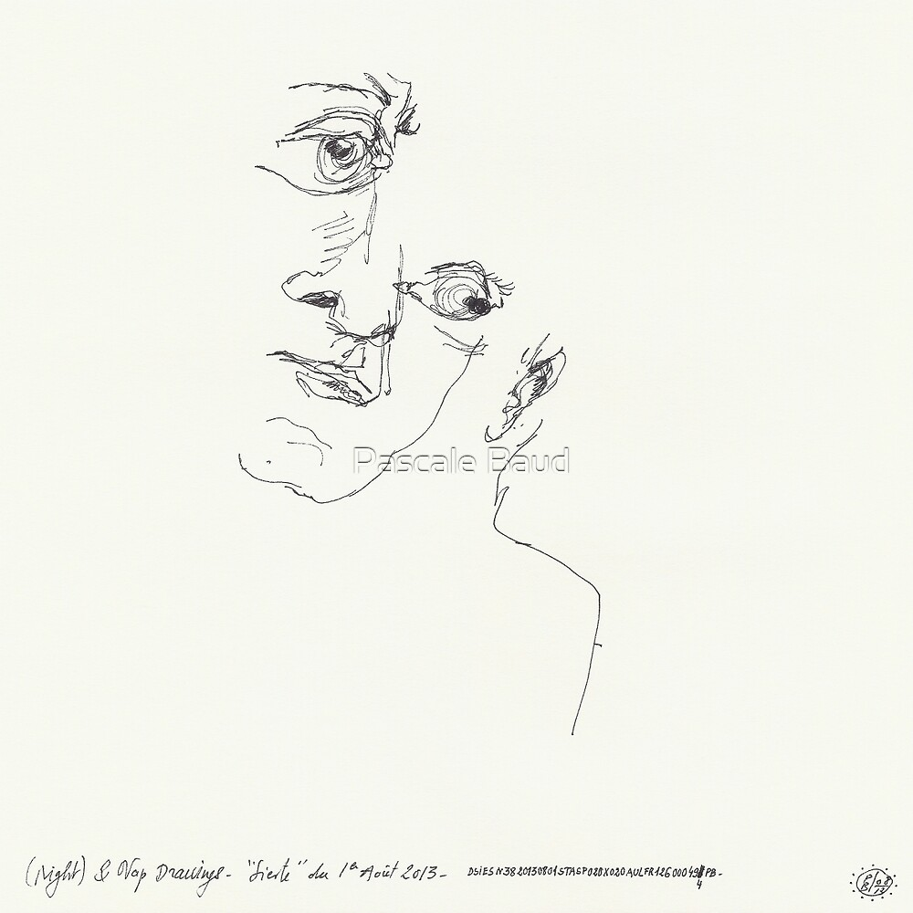 (Night) & Nap Drawings 38 -  by Pascale Baud