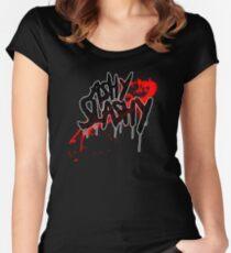 Ash vs The Evil Dead - ASHY SLASHY (BLOOD ON BLACK) Women's Fitted Scoop T-Shirt