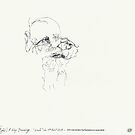 (Night) & Nap Drawings 32 - Old man - 1st August by Pascale Baud