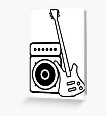Bass Amp Drawing Greeting Cards Redbubble