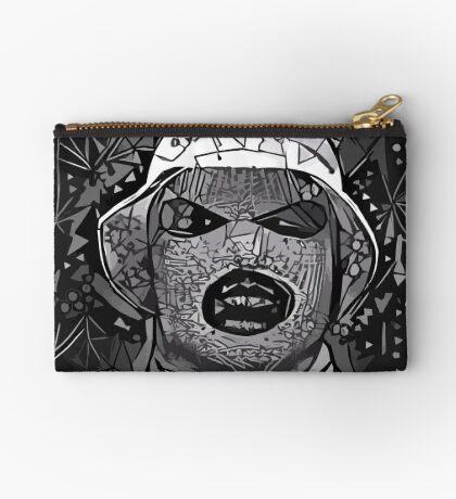 Abstract Oxymoron B&W Zipper Pouch