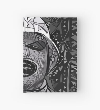 Abstract Oxymoron B&W Hardcover Journal