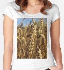 Ear of wheat Women's Fitted Scoop T-Shirt