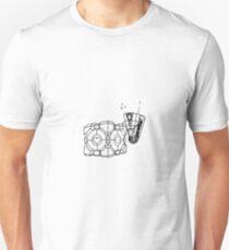 Claptrap and Companion Cube (Black) T-Shirt