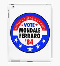 Mondale Ferraro 1984 Election Campaign Button iPad Case/Skin