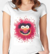 Muppets - Animal Women's Fitted Scoop T-Shirt