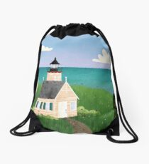 Michigan Lighthouse Drawstring Bag