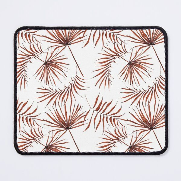 Earthy vintage palm leaves Mouse Pad
