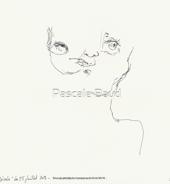 (Night) Nap Drawings 21 - Double head - 25th July 2013 by Pascale Baud