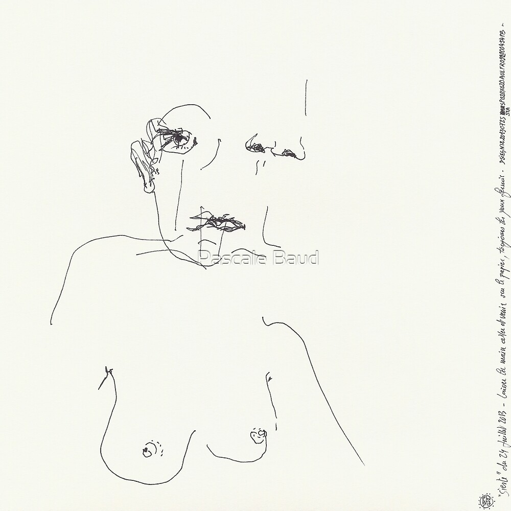 (Night) Nap Drawings 12 - Ageless Woman - 24th July 2013 by Pascale Baud