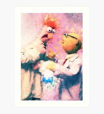 Beaker & Bunsen Art Print