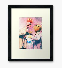 Beaker & Bunsen Framed Print