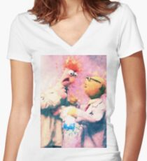 Beaker & Bunsen Women's Fitted V-Neck T-Shirt