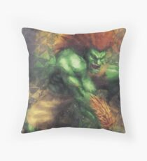 Street Fighter 2 - Blanka Throw Pillow