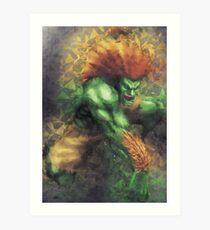 Street Fighter 2 - Blanka Art Print