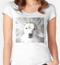 Pittie Flower Women's Fitted Scoop T-Shirt