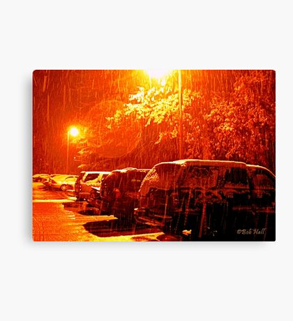 """""""A Snowy Evening in Knoxville"""" (a series, no.6) Canvas Print"""