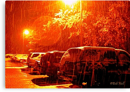 """""""A Snowy Evening in Knoxville"""" (a series, no.6) by Bob Hall©"""