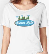 Beaver Lake T-shirt - Cute Nature Women's Relaxed Fit T-Shirt