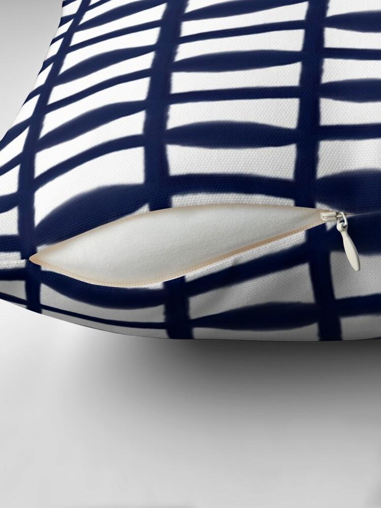 Alternate view of Shibori Blue Indigo | Tribal Geometric Throw Pillow