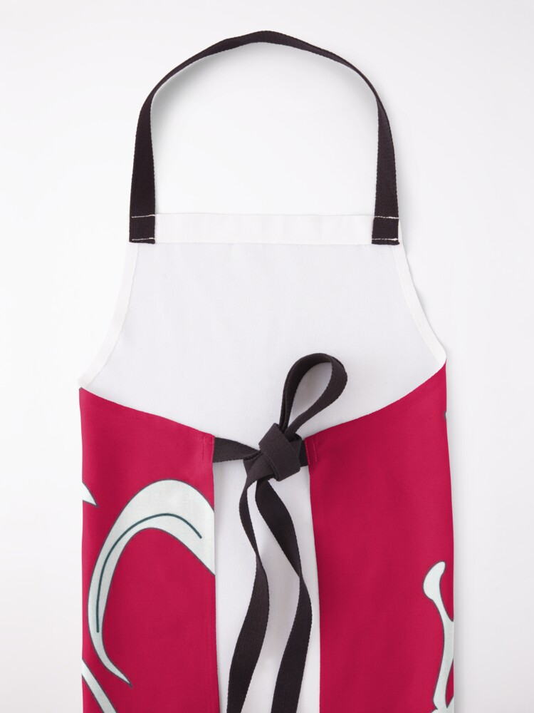 Alternate view of Rudy and winter floral Apron