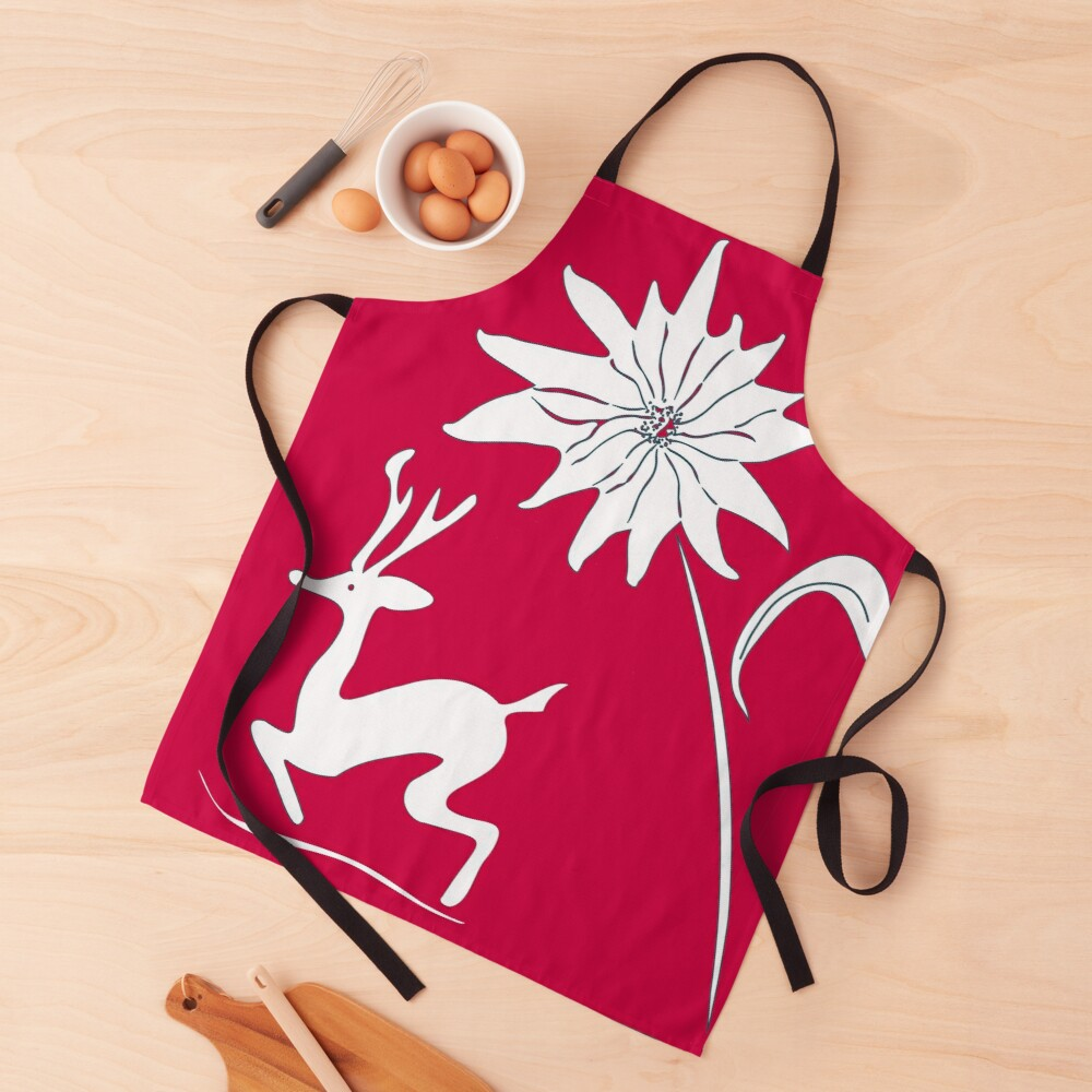 Rudy and winter floral Apron