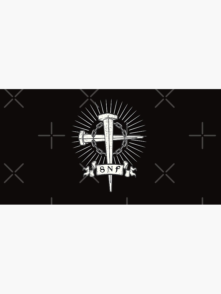 Scum n fury in Nails, chains and cross design T-Shirt by madzypex