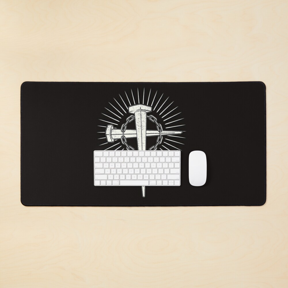 Scum n fury in Nails, chains and cross design T-Shirt Mouse Pad