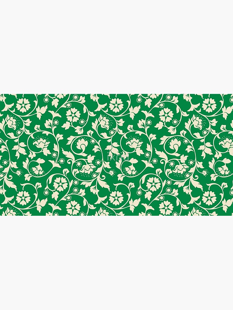Classic Floral Pattern (Green) by ixrid