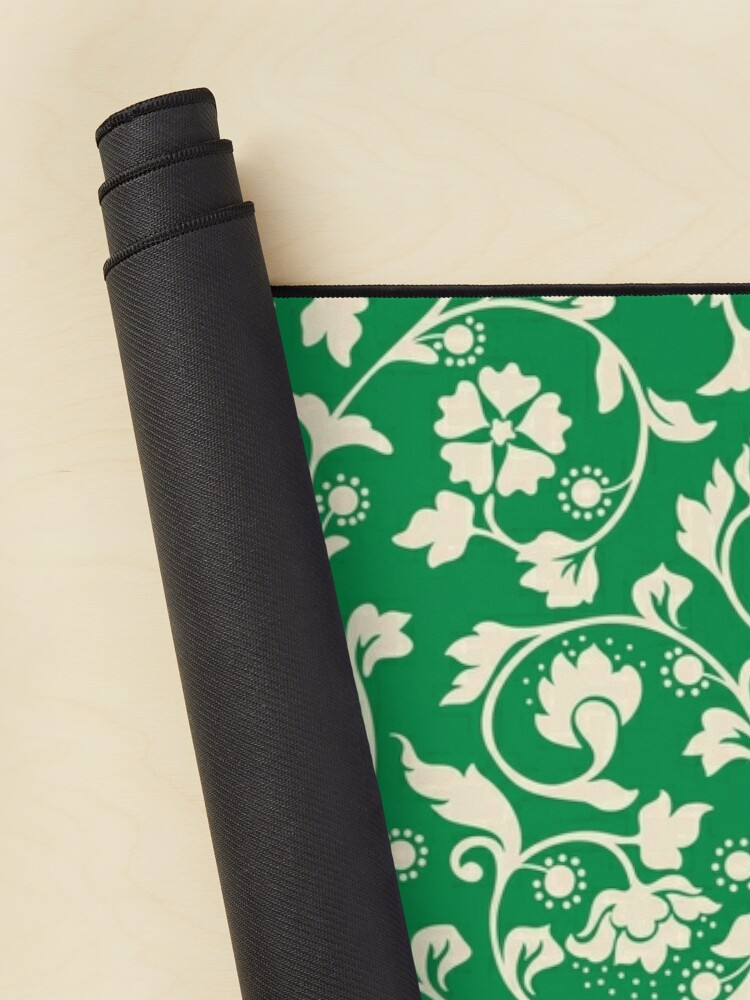 Alternate view of Classic Floral Pattern (Green) Mouse Pad