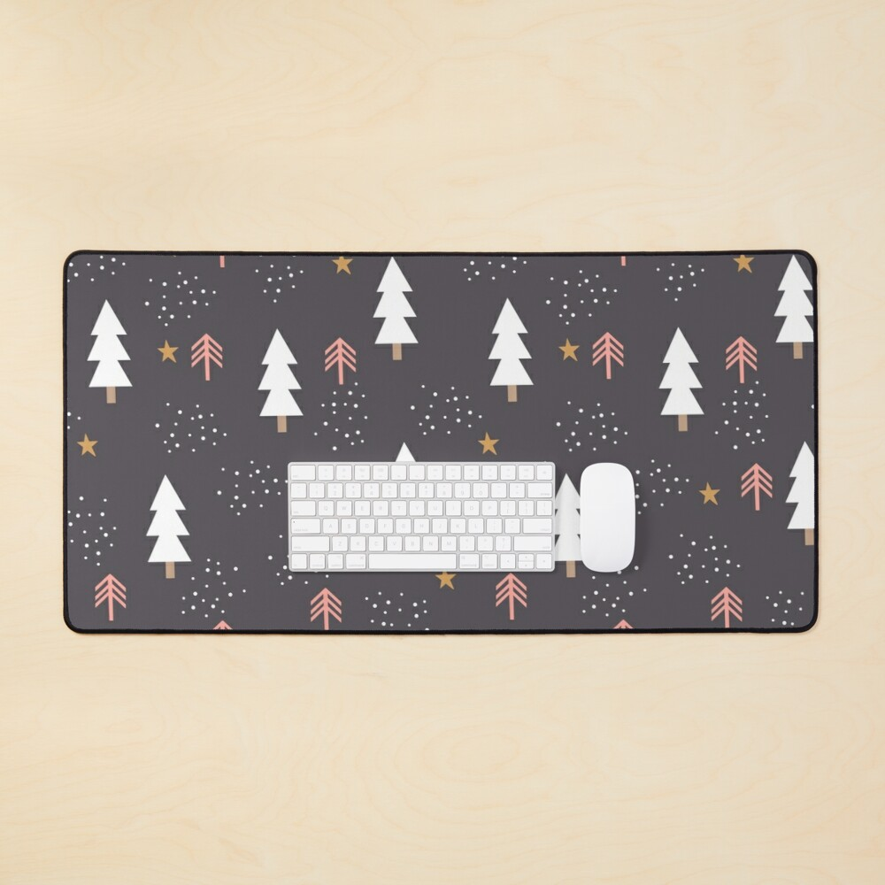 Winter tree pattern Mouse Pad