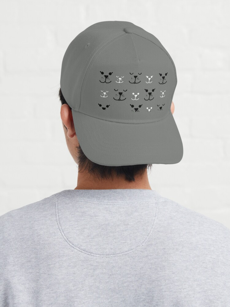 """Alternate view of """"Faces"""" Cap"""