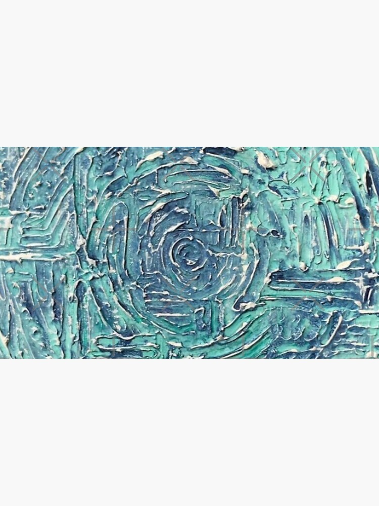 Turquoise Blue Abstract Circle Design by mikefinkgallery