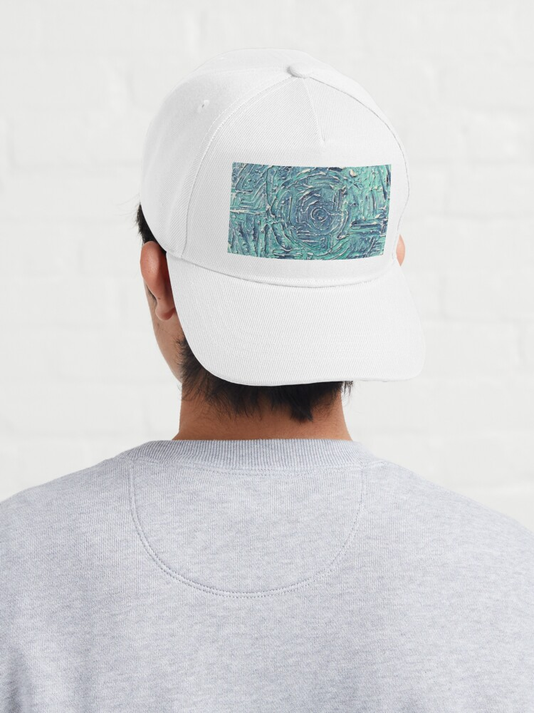 Alternate view of Turquoise Blue Abstract Circle Design Cap