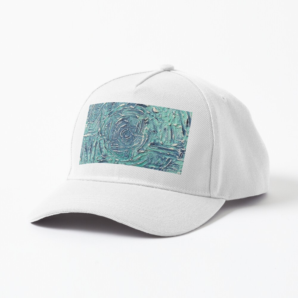 Turquoise Blue Abstract Circle Design Cap