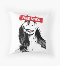 Free Binks Throw Pillow