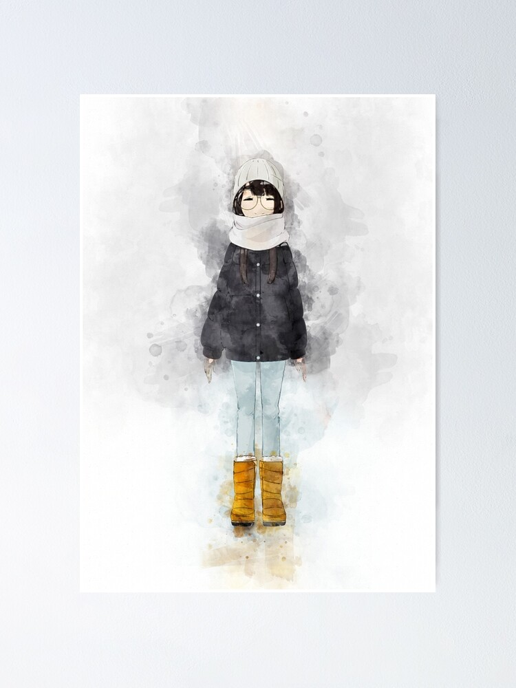 Alternate view of Laid Back Camp - Minami *Watercolor* Poster