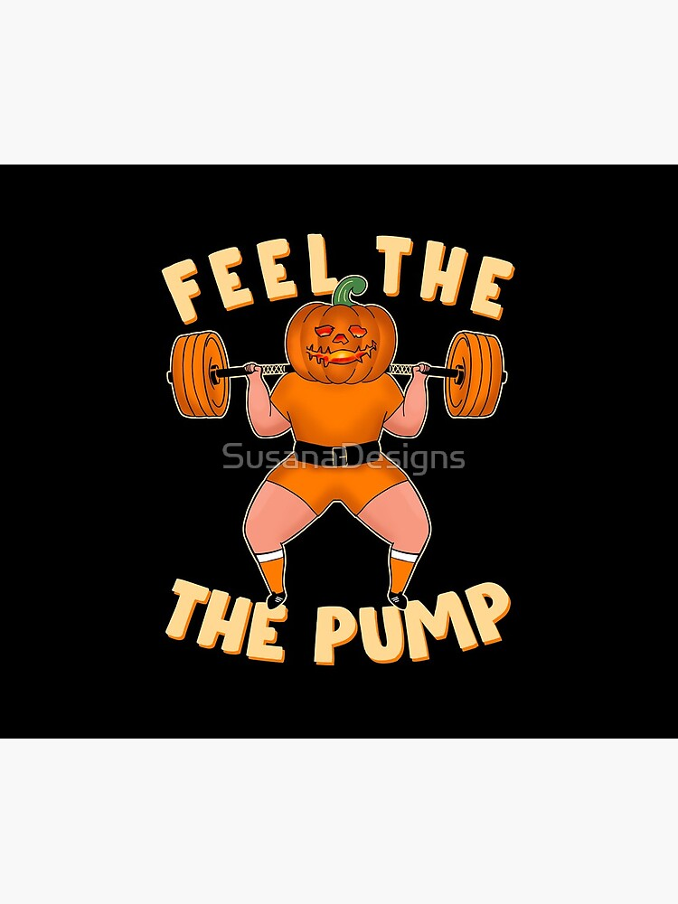 Funny workout design for Halloween Jack-o'-lantern Squats by SusanaDesigns