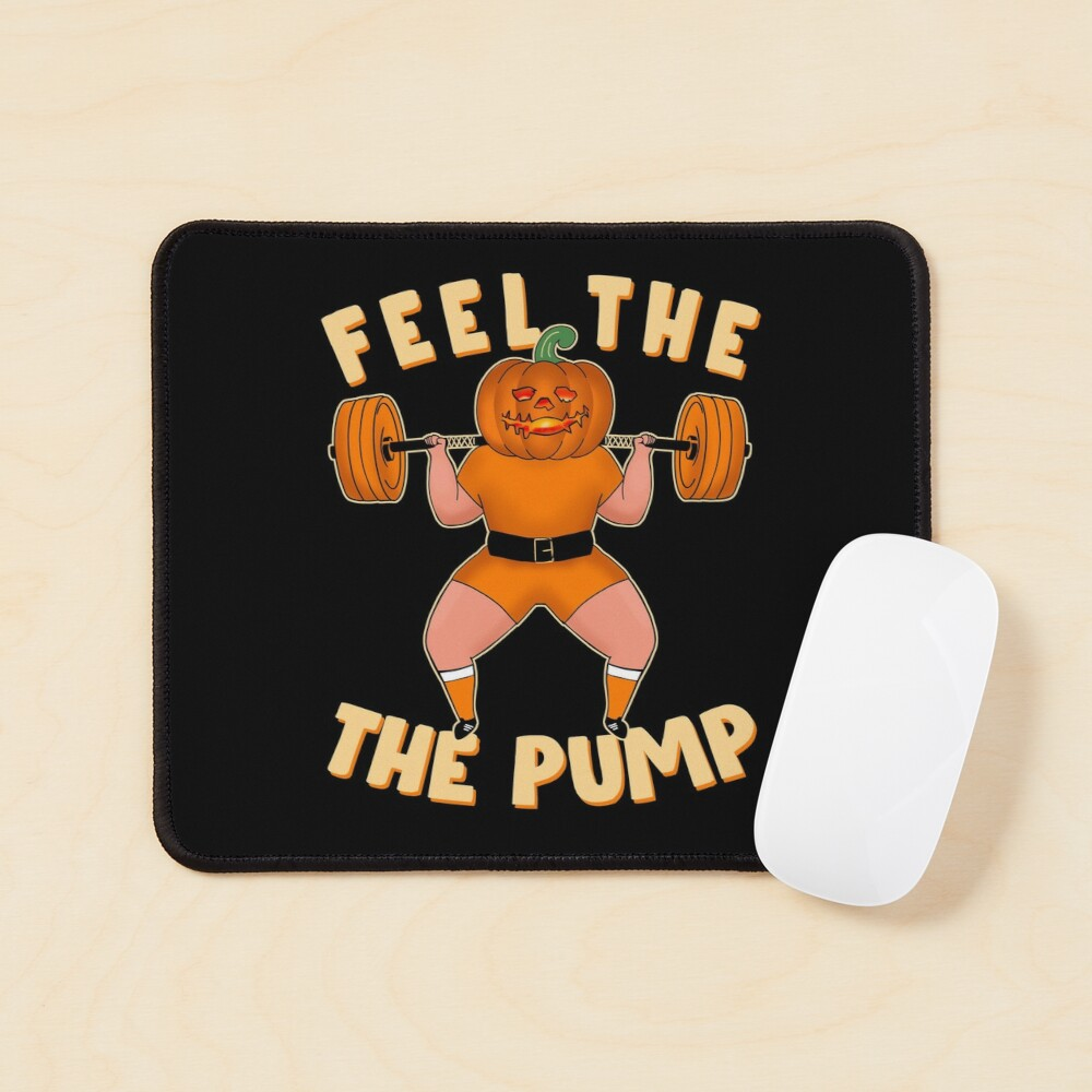 Funny workout design for Halloween Jack-o'-lantern Squats Mouse Pad