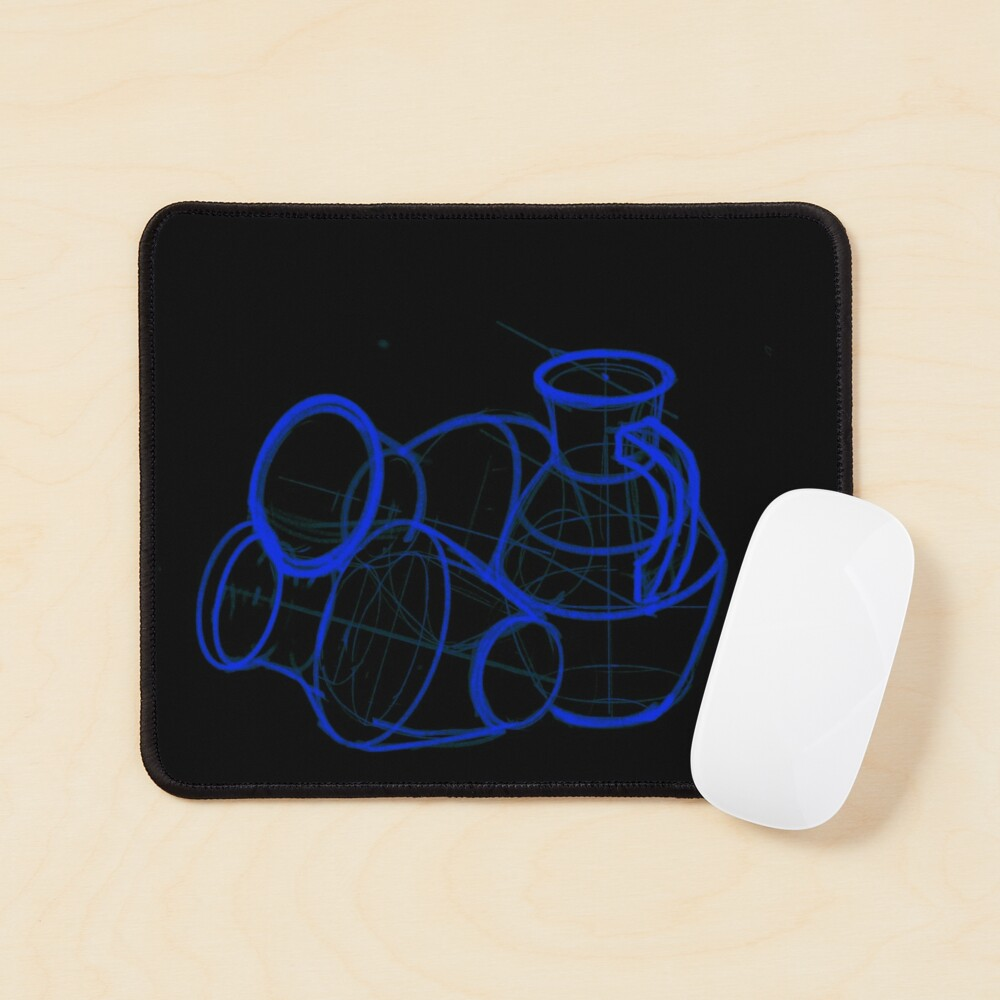 academic drawing of decanter Mouse Pad