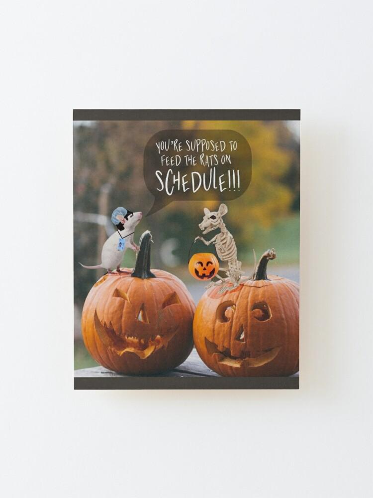 Alternate view of Halloween wall art Mounted Print