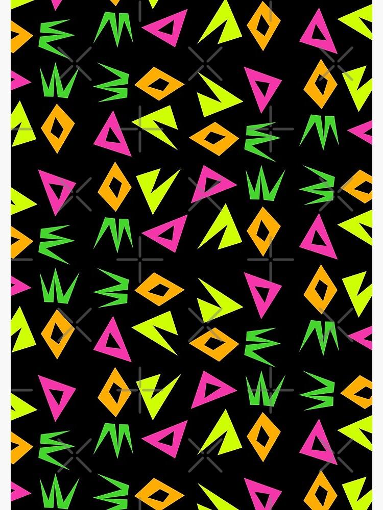 Neon Shapes (regular pattern) by TheScraggyBeard
