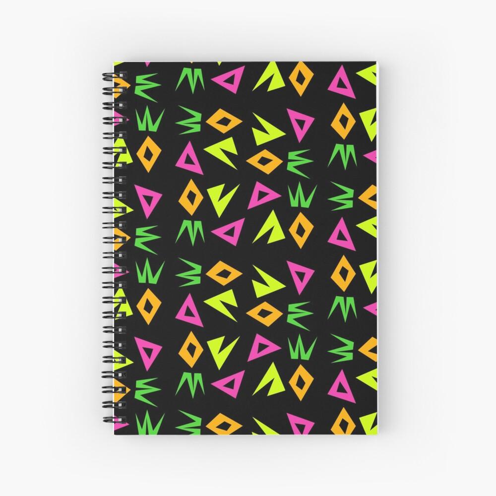 Neon Shapes (regular pattern) Spiral Notebook
