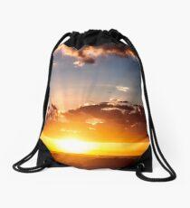 Sunset on I4 Drawstring Bag