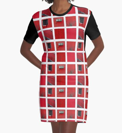 Red Graphic T-Shirt Dress