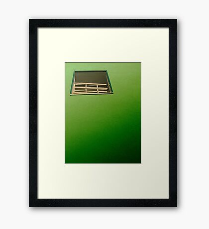 all talk and no action Framed Print