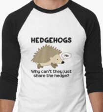 Hedgehog Pun Men's Baseball ¾ T-Shirt