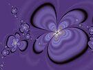 Purple flowers by inkedsandra