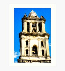 Beautiful Mexican Cathedral Bell Tower Art Print